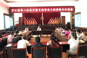 镇雄罗坎镇举行第二批赴安徽芜湖劳动力转移输出欢送会