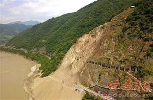 宝成铁路水害抢险第八天:已打通上山机械抢修便道