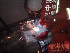 一男子被卡酒店电梯 汉中留坝消防紧急施救