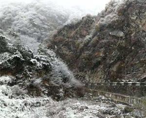 蓝田山区下雪了!(网友胡小东拍于张家坪)