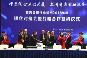 """西充:""""银企""""合作签约 """"输血""""民营企业6.1亿元"""