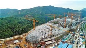 """珠海长隆海洋科学馆建设进展顺利 今夏来世界最大""""鱼缸""""看虎鲸"""