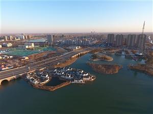 阳信在线视频工作室:航拍练习2-阳光下的翠岛湖