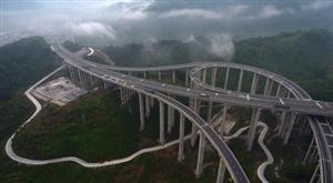 航拍六盘水到威宁的六威高速公路