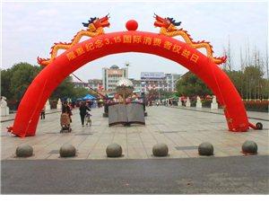 3.15在莲花县一支枪广场开展宣传咨询活动
