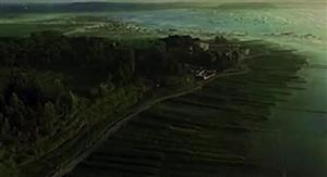 航拍贵州草海,青青大草原威宁欢迎你