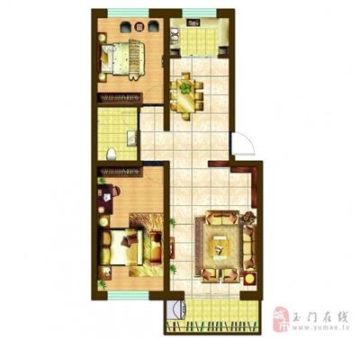 88.64平米两室两厅