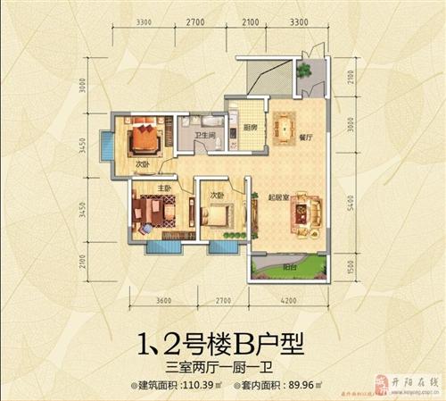 110.39平三室两厅一厨一卫