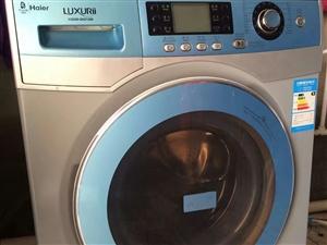 出售海尔滚筒洗衣机带烘干熨烫功能
