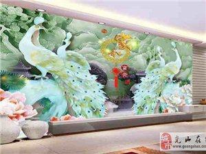 整屋集成墻板裝飾,3D藝術玻璃背景墻