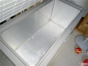 出售二手三龙牌卧式冰箱,冷冻冷藏,全铜管蒸发器
