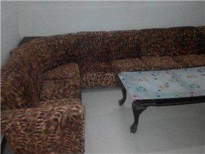 八成新订制沙发5米长送茶几