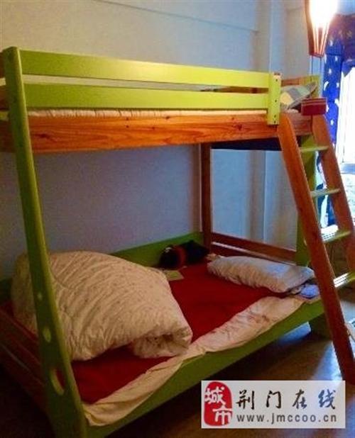 出售9成新香麗榭實木兒童高低床