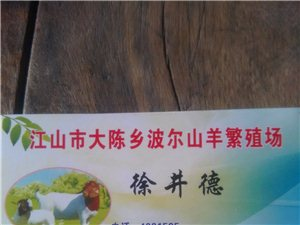 江山市大陳鄉波爾山羊繁殖場