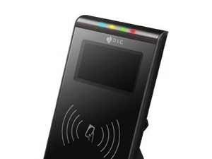 T80公交卡銀聯閃付卡柜面刷卡消費電子現金消費終端