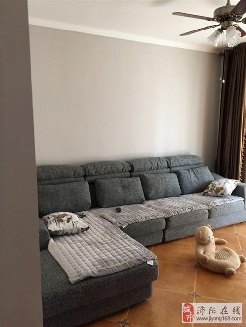 出售全新灰色布藝沙發長度3米3