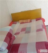 单人床带海绵垫