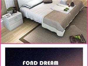 雙虎家私主臥板式雙人床1.8米1.5米白亮光組合