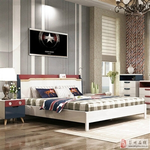 �p虎家私�P室家具�M合1.5米床1.8米床