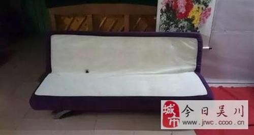 店铺结业,低价转让布艺沙发床(可坐、可睡)