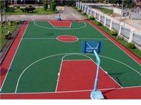 篮球场地胶铺设,画线,标准篮球场规格平面图