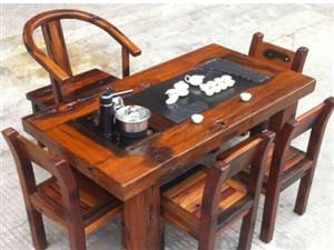 荆门老船木茶桌椅组合批发原生态