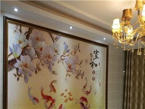 个性定制3d玻璃 丝绸布料影视墙 玄关 壁画