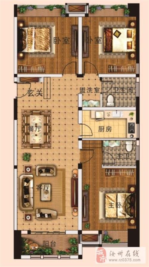 户型图面积区间:约30平—140平