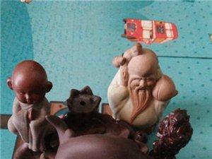 佛珠紫砂壶纪念币茶宠小木雕等