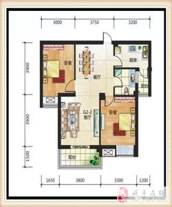 两室两厅单卫双阳台,88.46平米