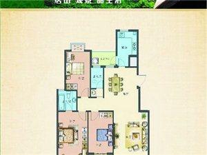 霖轩·碧璟园三室两厅两卫125.06平方米全新毛坯