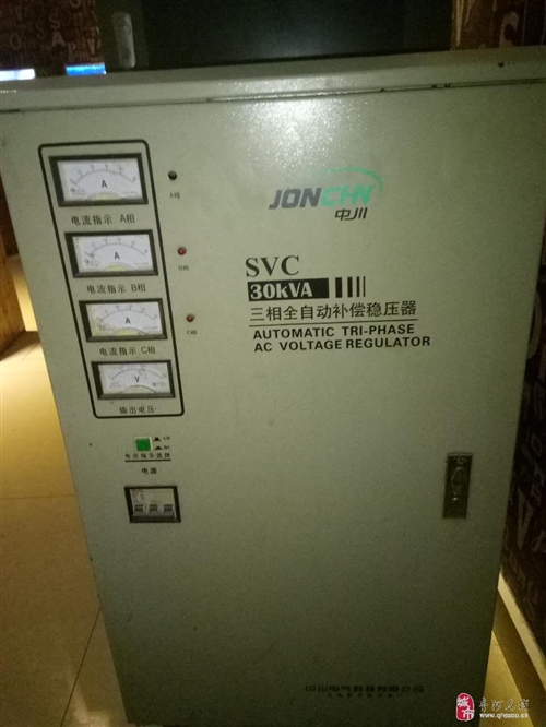 出售9成新30KVA三相全自动补偿稳压器