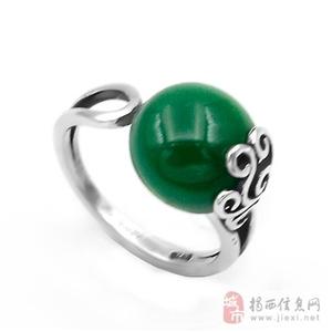 亚西亚银饰批发-玛瑙开口泰银戒指,925银饰批发