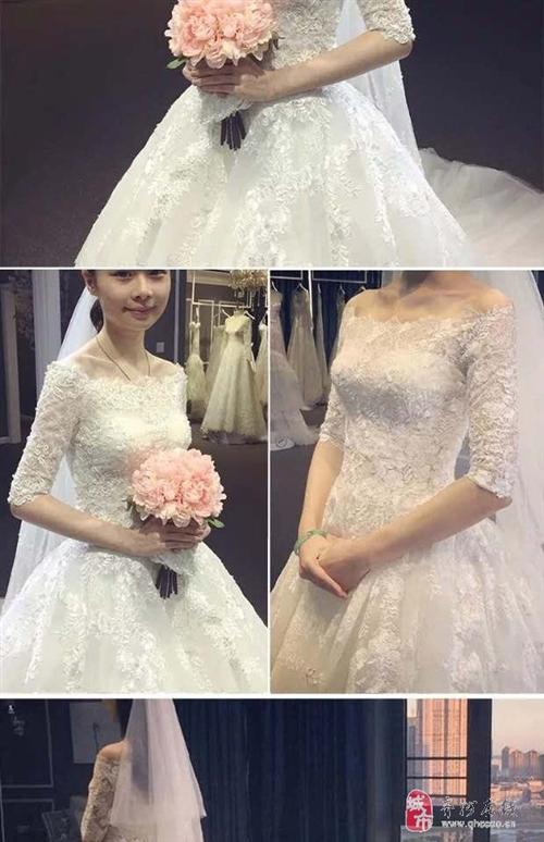 出售95成新婚纱一件