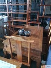 求购二手实木家具仿古家具实木茶台博古架屏风