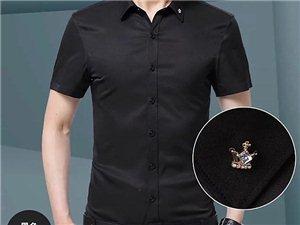 新款夏季衬衫男士短袖修身免烫商务休闲职业正装衬衫男