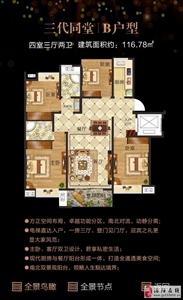 B户型/三代同堂(4室3厅2卫/116.78平方)