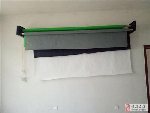 出售全新攝影幕布四個滾子+4色幕布帶電動升降器