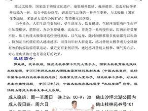 鹤山陈式太极养生中心暑假少年太极拳培训班
