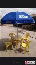 本人有九成新啤酒桌,全新伞,低价出售