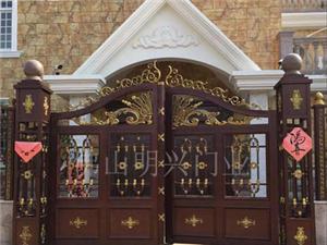 厂家直供铝艺大门 庭院别墅欧式平开门 包安装