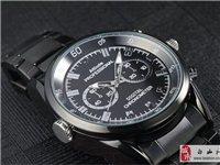 最新款黑金刚红外夜视感应超薄款摄像手表