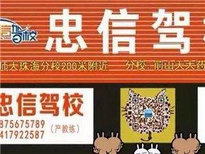 珠海忠信駕校教練夏季優惠招生