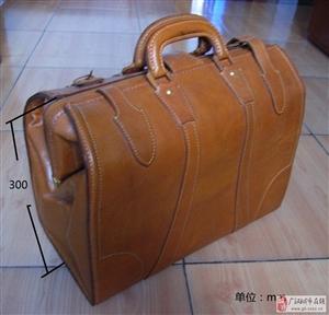 出售全新手工复古全牛皮手提箱包一个