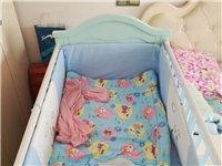 500元出售95萬新寶寶床帶床墊和床上用品