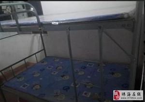 1.2米铁床。床垫。1米上下铁床