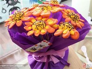 教师节来临之际【柠檬树艺术】为孩子免费提供亲子自做花束活动