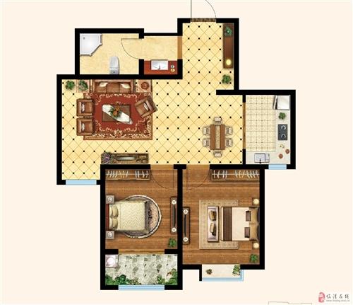两室两厅一卫 楼座:4#楼