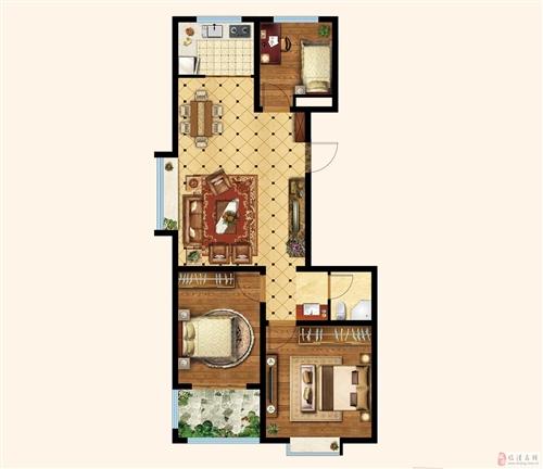 三室两厅一卫 楼座:8#楼