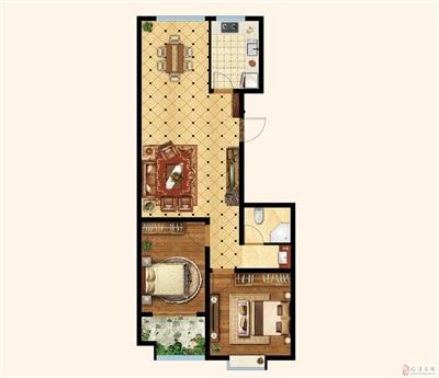 两室两厅一卫 楼座:8#楼